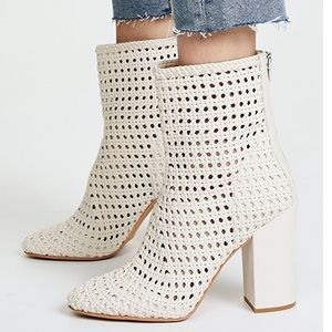 Scotch Woven Ankle Boots with Block Heel
